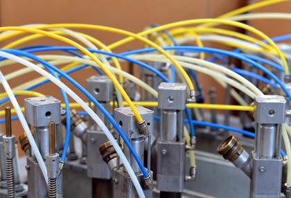 Pneumatik u. Hydraulik einer Industriemaschine